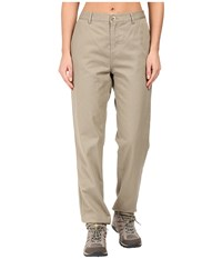Woolrich Alderglen Flannel Lined Chino Pants Khaki Women's Casual Pants