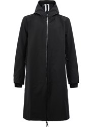 11 By Boris Bidjan Saberi Zip Up Hooded Coat Men Cotton Nylon Polyester M Black