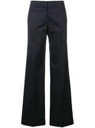 Paul Smith Ps By Wide Leg Trousers Blue