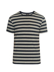 Steven Alan Clean Stripe Cotton Jersey T Shirt