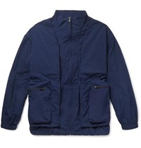 Remi Relief Layered Shell And Mesh Jacket Navy