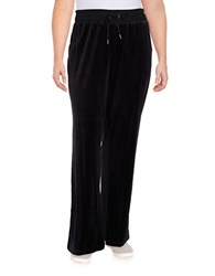 Calvin Klein Plus Drawstring Velour Pants Black