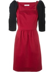 Yves Saint Laurent Vintage Button Sleeve Dress Red