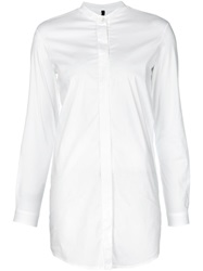 Transit Mandarin Collar Shirt White