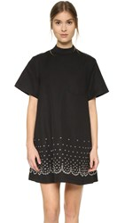 Alexander Wang Mock Neck T Shirt Dress Onyx