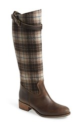 Women's Charles David 'Gentry' Tall Boot Brown Fabric Leather