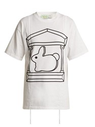 Hillier Bartley X Aries Short Sleeved Cotton T Shirt White
