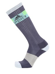 Adidas By Stella Sport Logo Color Block Cotton Blend Socks