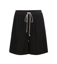 Rick Owens Crepe High Rise Shorts Black