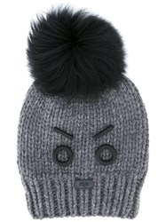 Fendi No Words Beanie Grey