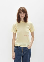 Martine Rose Print Slim Tee Lemon