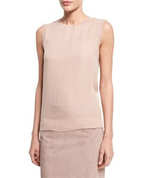 Ralph Lauren Jewel Neck Slim Fit Shell Rose Pink Women's