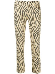 Current Elliott Zebra Print Cropped Trousers 60