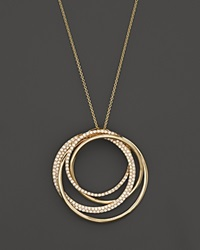 Bloomingdale's Diamond Overlapping Circle Pendant Necklace In 14K Yellow Gold .70 Ct. T.W.
