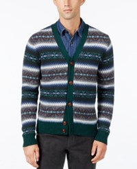 Tommy Hilfiger Men's Fair Isle Cardigan Topiary