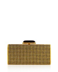 Judith Leiber Soft Sided Rectangle Clutch With Enamel Dots