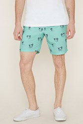 Forever 21 Hammock Palm Tree Swim Trunks