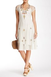 Biya Aimee Silk Mesh Dress White