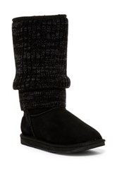 Australia Luxe Collective Fame Tall Genuine Shearling Boot Black