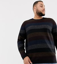 Tom Tailor Plus Stripe Jumper In Black
