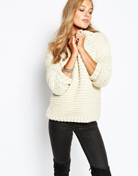 Suncoo Providence Knitted Jumper Blanc