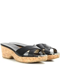 Jimmy Choo Panna Leather Mules Black