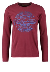 Petrol Industries Long Sleeved Top Light Burgundy Bordeaux
