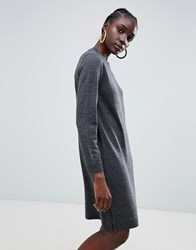 Selected Eileen Wool Blend Jumper Dress Dark Grey Melange