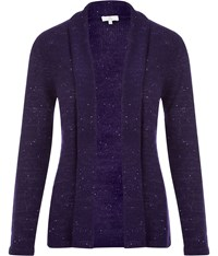 Cc Petite Sequin Yarn Cardigan Purple