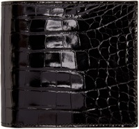 Thom Browne Black Croc Embossed Wallet