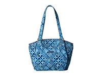 Vera Bradley Glenna Cuban Tiles Tote Handbags Blue