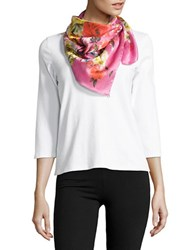 Collection 18 Floral Printed Scarf Bright Pink