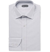 Tom Ford Checked Cotton Shirt Gray