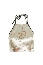 Topshop Finds Oriental Halter Top By Silver
