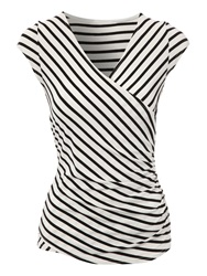 Jane Norman Wrap Top Monochrome