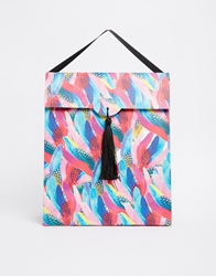 Paperchase Medium Gift Bag Jungle Fever Feathers Multi