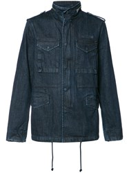 Prps Multiple Pockets Denim Jacket Blue