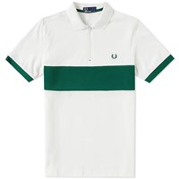 Fred Perry Zip Cycling Polo Neutrals