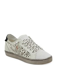 Dolce Vita Zpunk Lace Up Leather Sneakers White