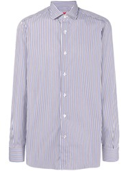 Isaia Striped Shirt White