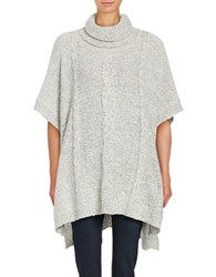 Bb Dakota Turtleneck Cable Knit Poncho Ivory