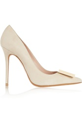 Acne Studios Alivia Suede Pumps White