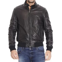 Jeckerson Bomber Leather With Patches