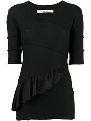 Damir Doma Frill Trim Fitted Top Black
