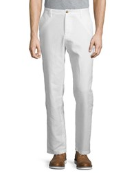 Nautica Linen Blend Solid Pants Bright White