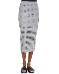 T By Alexander Wang Netted Long Fitted Jersey Skirt