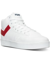 Pony Men's Vintage Slam Dunk Hi Stadium Casual Sneakers From Finish Line White Red Navy