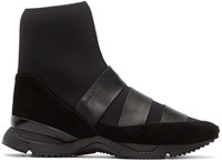 Damir Doma Black Neoprene Flash High Top Sneakers