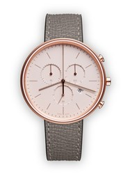 Uniform Wares M40 Women's Chronograph Watch In Pvd Rose Gold With Grey Textured