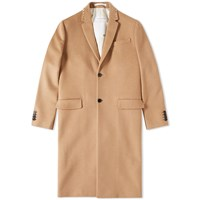 Valentino Stud Collar Coat Brown